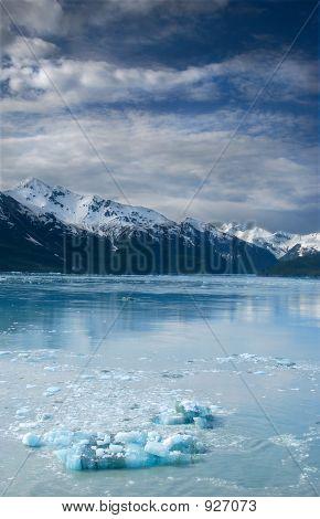 Blue Ice On The Ocean