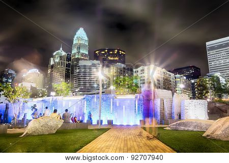 Night View Scenes Around Charlotte North Carolina