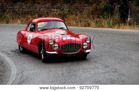 old car FIAT 8V berlinetta 1954  mille miglia 2015