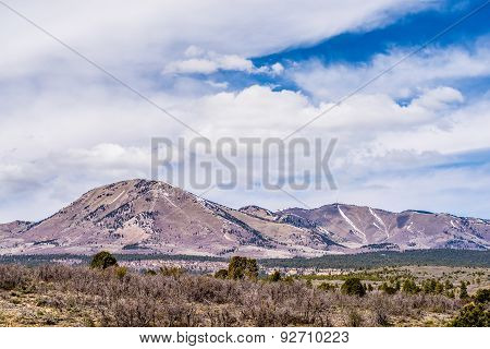 Landscape Overlooking South Peak And Abajo Peak Mountains