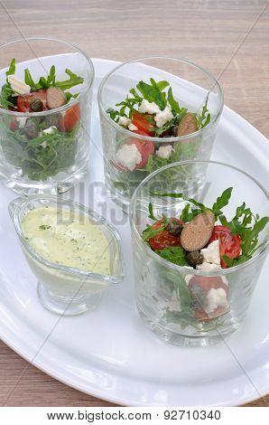 Arugula Salad In A Glass