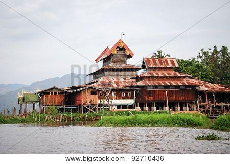 Nga Phe Kyaung Monastery On Inle Lake, Myanmar