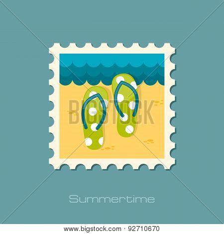Flip Flops Flat Flat Stamp