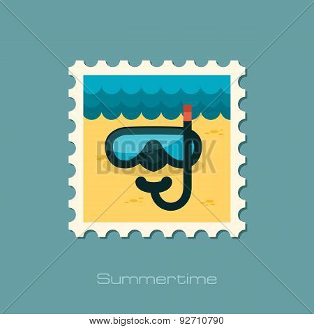 Diving Mask Flat Stamp