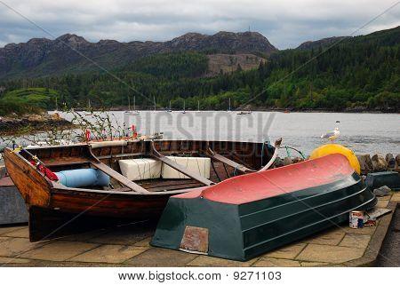 Rowing Boats at Plockton