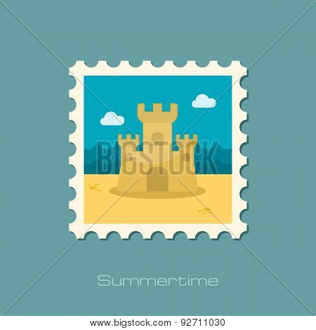 Sand Castle Flat Stamp