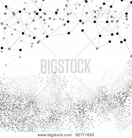 Molecule structure, white background for communication, vector illustration