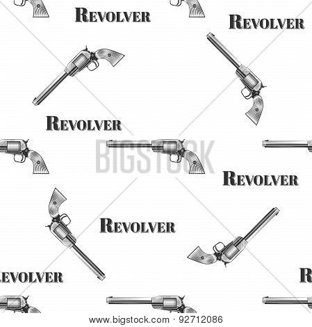 Vector seamless retro pattern, Revolver