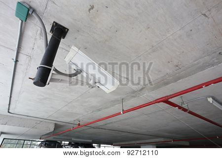 Security Camera In Car Parking
