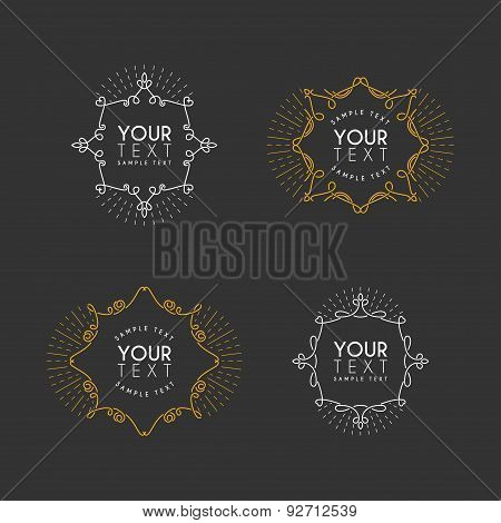 Set Of Vector Vintage Labels, Logotypes, Insignias, Badges For Your Business