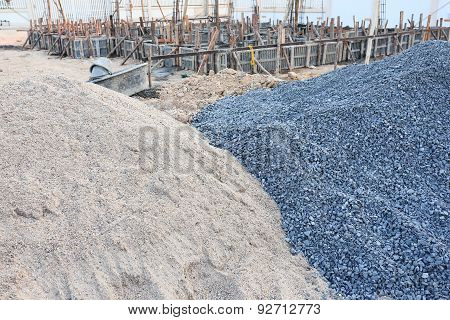 Piles Gravel And Sand For Construction