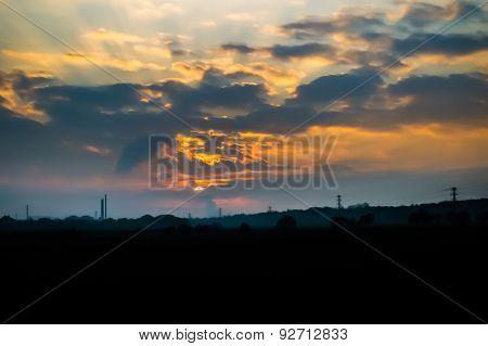 Sunset View In Czech Republic