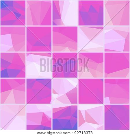 Abstract Geometric colorful background. Light lilac, violet polygonal pattern. Vector mosaic