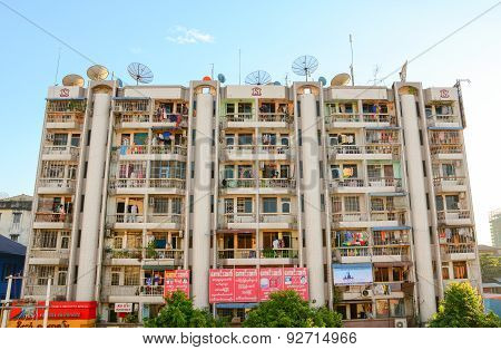 Modern Buildings At Yangon Downtown