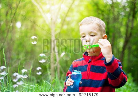 Boy And Bubbles