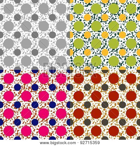 Set Color Of Seamless Vector Patterns