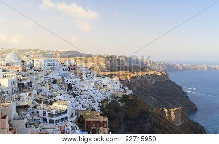 Fira Town On Santorini