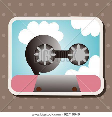 Audiotape Theme Elements Vector,