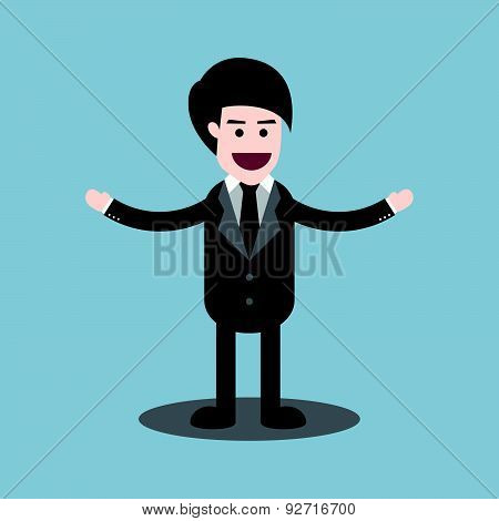 Businessman Welcome Standing