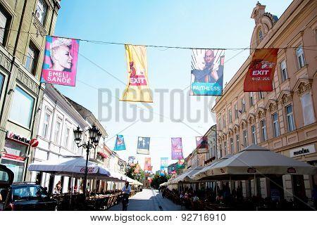 Flags Of Exit Festival 2015 In City Center Of Novi Sad