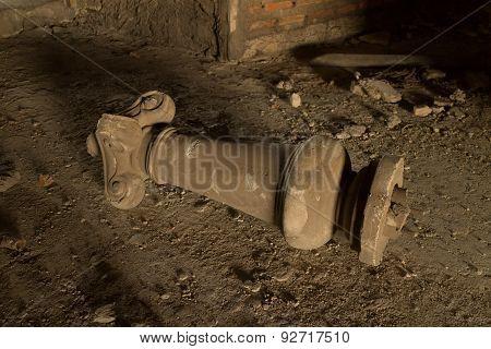 Ruins of roman pole