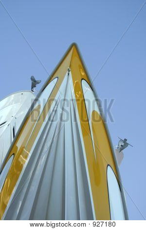 Yellow Speed Boat'S Prow
