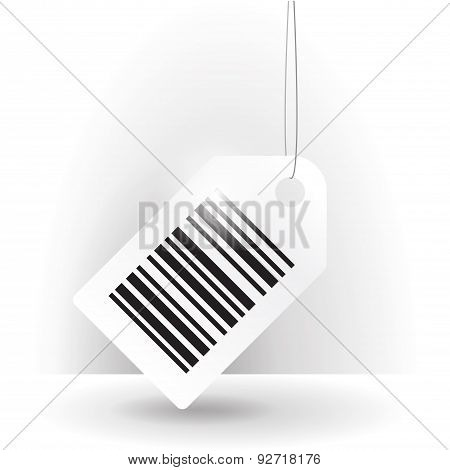 Barcode label with thread