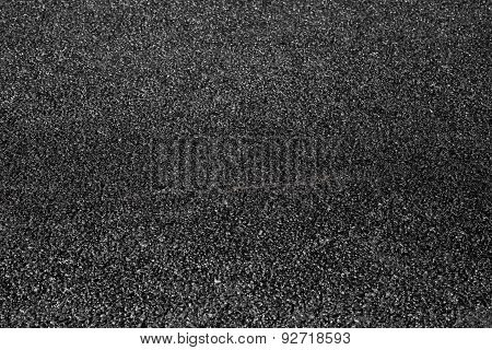 New Black Asphalt Immediately After Asphalting
