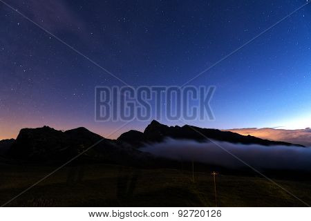 Night Landscape At The Rolle Pass