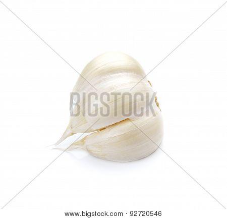 Garlic Isolated On White Background, Garlic Macro