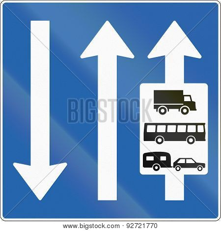 Lane For Big Vehicles In Iceland