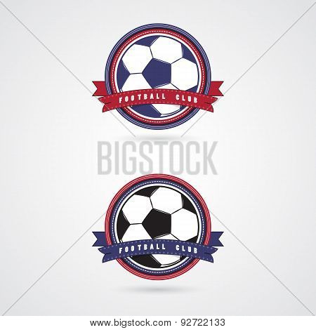 Soccer Football Badge Logo Design Templates.
