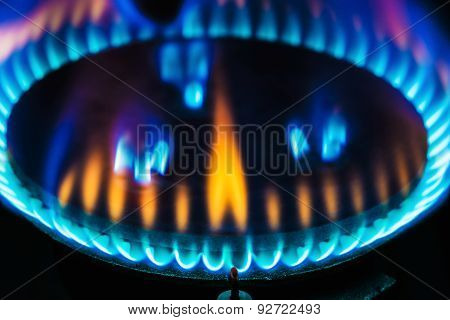 Kitchen Gas Burner Flame