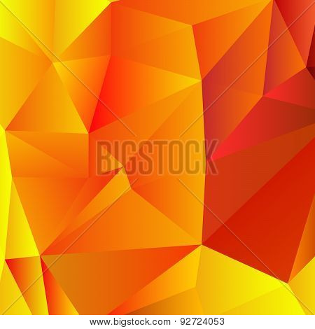red and yellow low-poly background