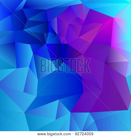 blue tone low-poly background