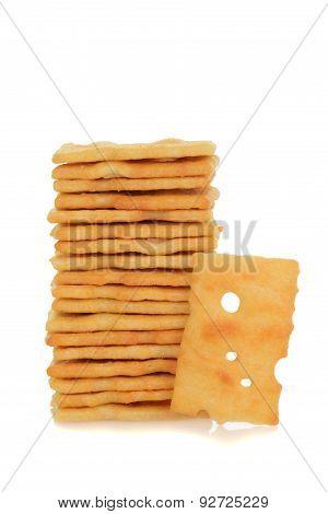 stack swiss cheese cracker