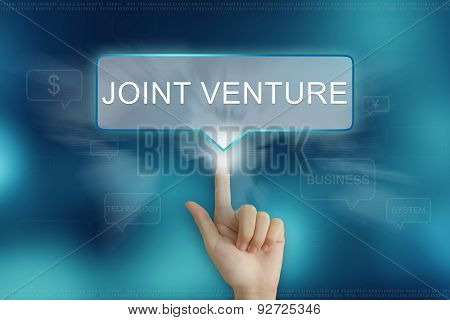 Hand Clicking On Joint Venture Button