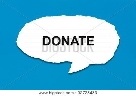 Donate With White Paper Tears