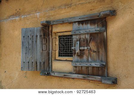 Weathered Wooden Window