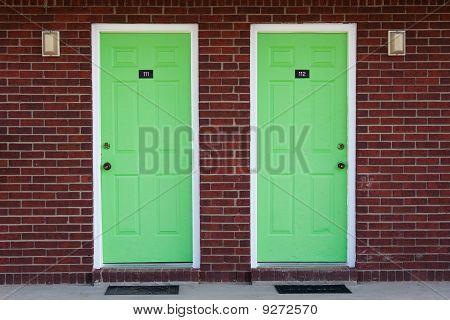 green doors