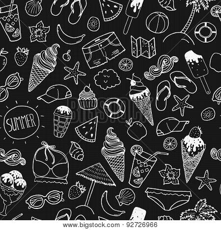 Vector summer hand drawn background