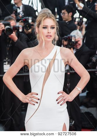 Doutzen Kroes attending the opening ceremony and premiere of La Tete Haute ( Standing Tall ) during the 68th annual Cannes Film Festival on May 13, 2015 in Cannes, France.