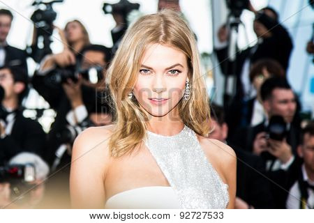 Karlie Kloss attends the opening ceremony and premiere of 'La Tete Haute' ('Standing Tall') during the 68th annual Cannes Film Festival on May 20, 2015 in Cannes, France.