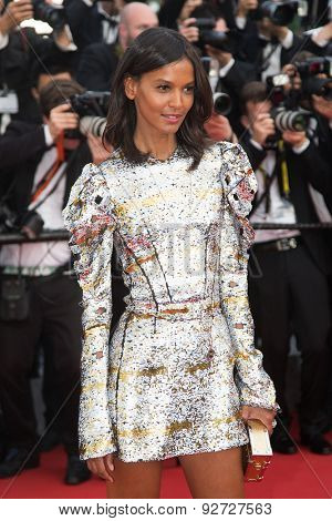 Liya Kebede attend the opening ceremony and premiere of 'La Tete Haute ('Standing Tall') during the 68th annual Cannes Film Festival on May 13, 2015 in Cannes, France.