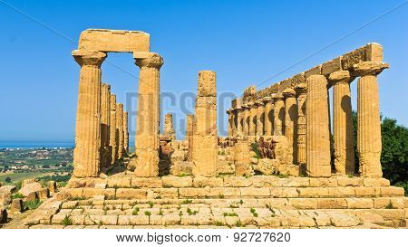 Temple of Hera,Juno at Agrigento Valley of the Temple, Sicily