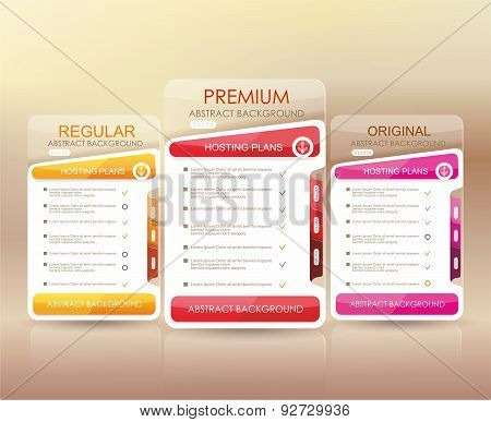 Price List Widget With 3 Payment Plans, Websites And Applications.
