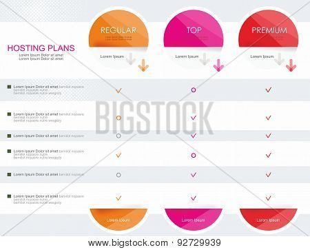 Price List Widget With 3 Plans For Online Services,  Websites And Applications.