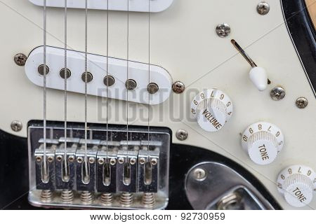 Detail Of Used Electrical Guitar.