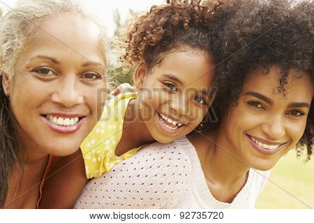 Portrait Of Grandmother With Daughter And Granddaughter