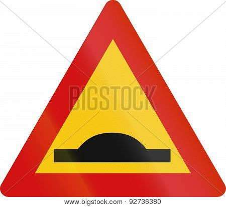 Icelandic Speed Bump Sign